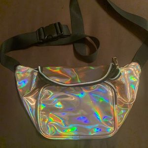 Handbags - Rose Gold holographic fanny pack